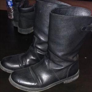 Black leather dolce gabbana boots